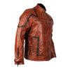 101 Tan Vintage Motor Biker Real Leather Jacket 2
