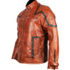 101 Tan Vintage Motor Biker Real Leather Jacket 3