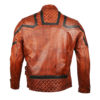 101 Tan Vintage Motor Biker Real Leather Jacket 4