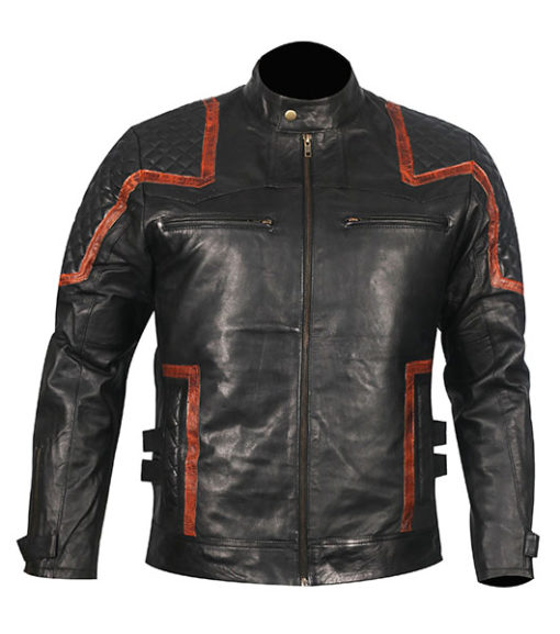 101 Vintage Distressed Motor Biker Real Leather Jacket 1