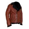 Aviator B3 Warm, Fur Lined Bomber Sheepskin Leather Jacket 4