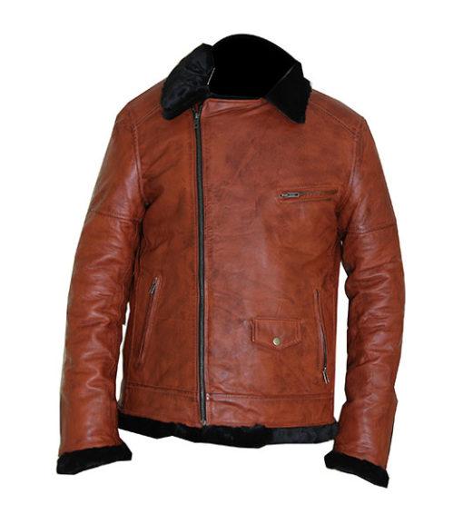 Aviator B3 Warm, Fur Lined Bomber Sheepskin Leather Jacket 5