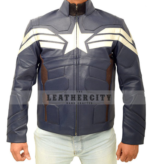 Captain America The Winter Soldier Jacket Front