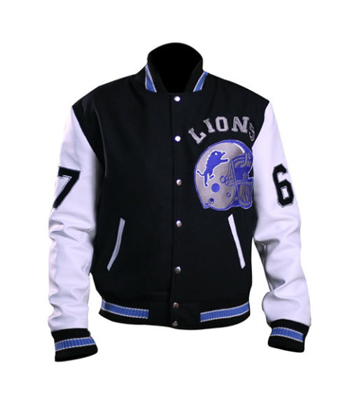Beverly Hill Cop Detroit Lions Letterman Real Wool Jacket 1