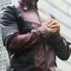 Deadpool Leather Jacket Worn by Ryan Reynolds 12