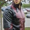 Deadpool Leather Jacket Worn by Ryan Reynolds 13