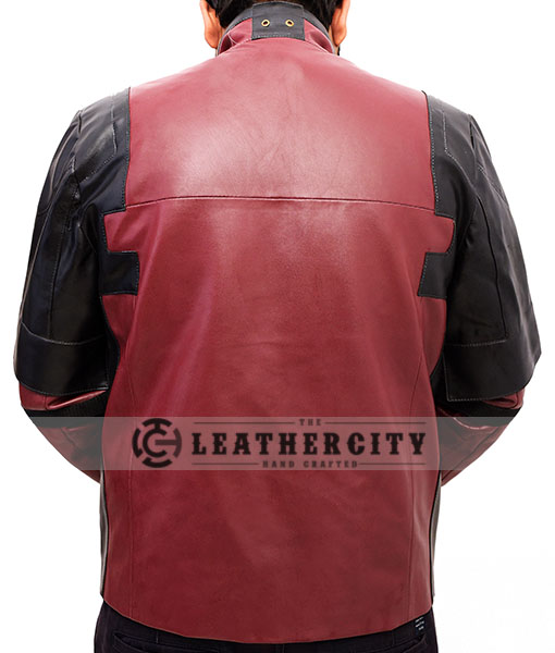 Deadpool Ryan Reynolds Leather Jacket Back