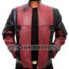 Deadpool Leather Jacket Worn by Ryan Reynolds Front Open