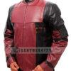 Deadpool Leather Jacket Worn by Ryan Reynolds Left