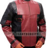 Deadpool Leather Jacket Worn by Ryan Reynolds Right