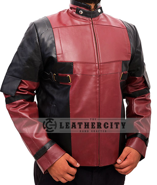 Deadpool Ryan Reynolds Leather Jacket Right