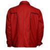 Elvis Presley Inspired Mens Red Leather Jacket-back