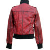 Ladies Cosmopolitan Fitted Fashion Genuine Leather Women Jacket back