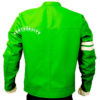 Men's Ben 10 Slim Fit Leather Jacket bck