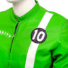 Men's Ben 10 Slim Fit Leather Jacket closure