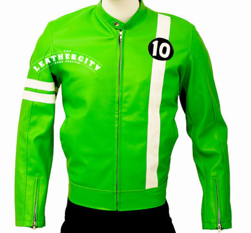 Men's Ben 10 Slim Fit Leather Jacket front