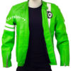 Men's Ben 10 Slim Fit Leather Jacket open 2