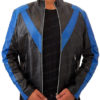 Men's Night wing Dick Grayson Superhero Real Leather Jacket Costume