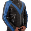 Men's Night wing Dick Grayson Superhero Real Leather Jacket Costume Left