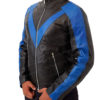Men's Night wing Dick Grayson Superhero Real Leather Jacket Costume Right
