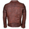 Men's Brando Biker Motorcycle Vintage Distressed Winter Leather Jacket 2