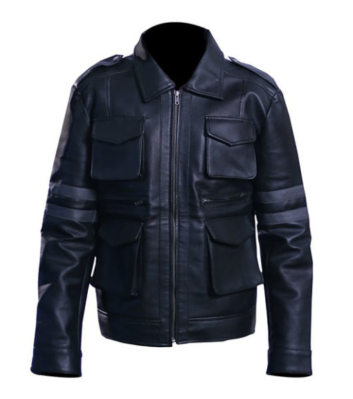 Men's Leon Kennedy Leather Jacket – Resident Evil 6 1