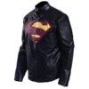 Men's Superman Man Of Steel Leather Jacket 1
