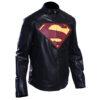 Men's Superman Man Of Steel Leather Jacket 3