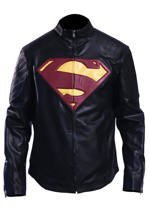 Men's Superman Man Of Steel Leather Jacket 4
