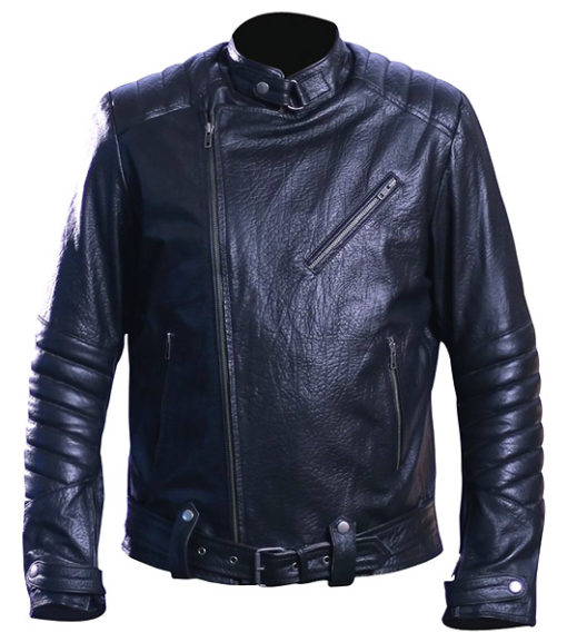 Men's david beckham real leather jacket 3