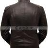 Superman Leather Jacket in Black Back