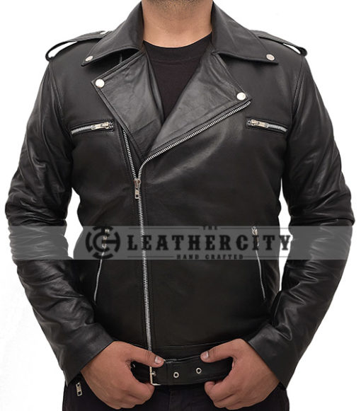 The Walking Dead's Negan Leather Jacket Front
