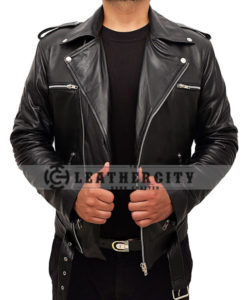 Negan TWD Motorcycle Leather Jacket