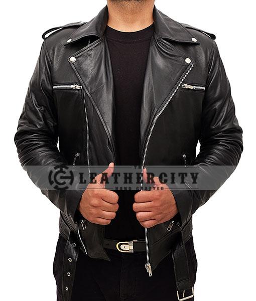 Negan TWD Motorcycle Leather Jacket