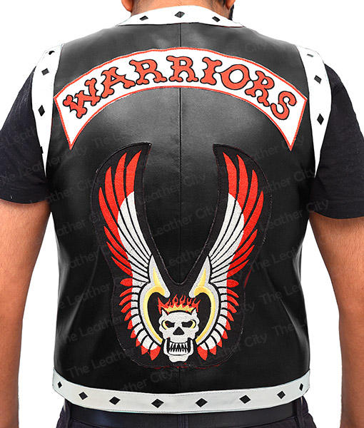 The Warrior Vest Leather Jacket Back