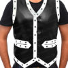 The Warrior Vest Leather Jacket Front