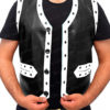 The Warrior Vest Leather Jacket Front Open