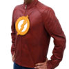 The Flash Season 2 Leather Jacket left