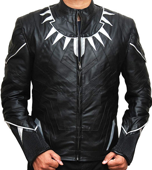 Black Panther LEather Jacket front