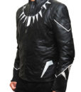 Black Panther LEather Jacket right