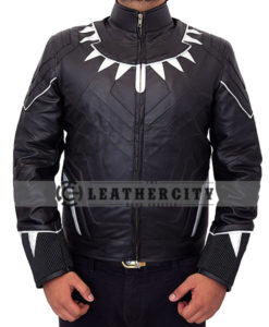 Black Panther Leather with Neck Spikes