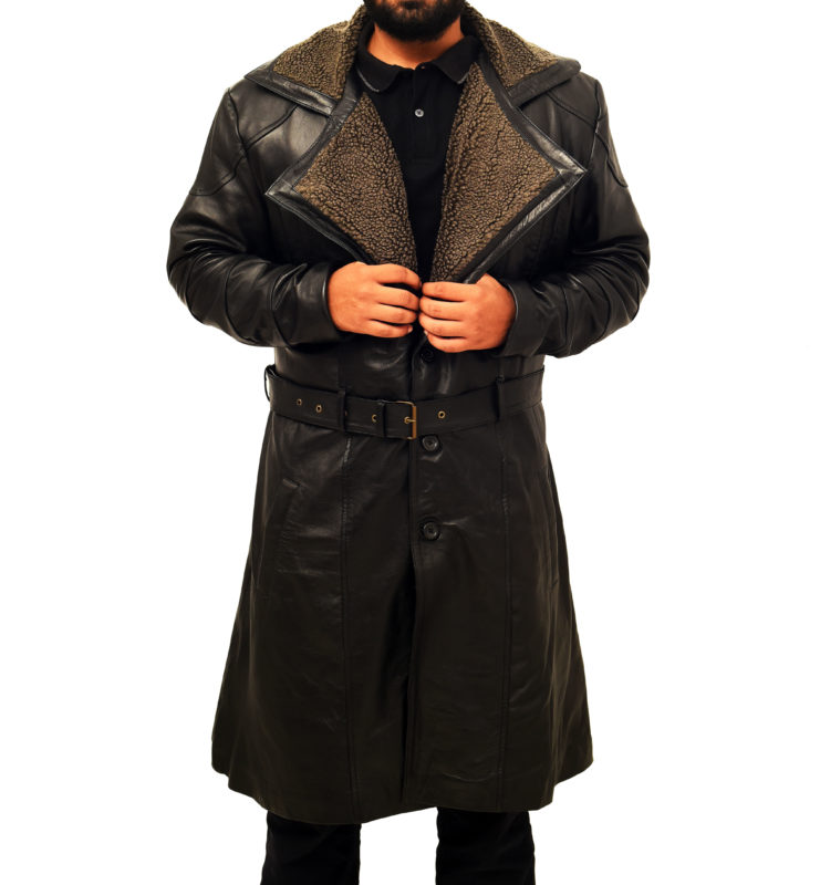 Celebrity black leather jacket