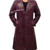 Jared Leto's Joker Purple Crocodile Coat Front 1