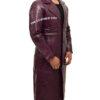 Jared Leto's Joker Purple Crocodile Coat Left