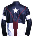Men's Avengers America Leather Jacket back