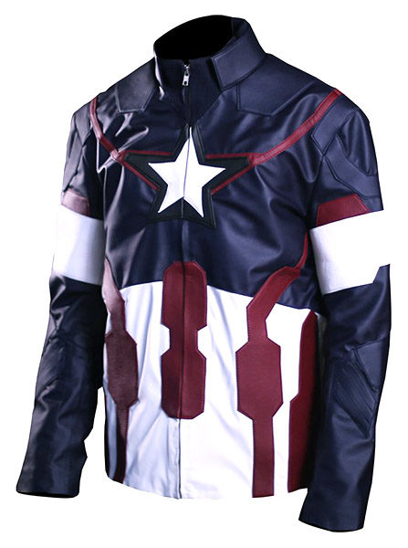 Men's Avengers America Leather Jacket front