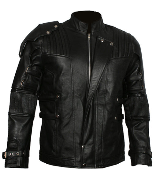 Men's Chris Pratt Star Lord Guardians of The Galaxy Vol 2 Real Leather Jacket front