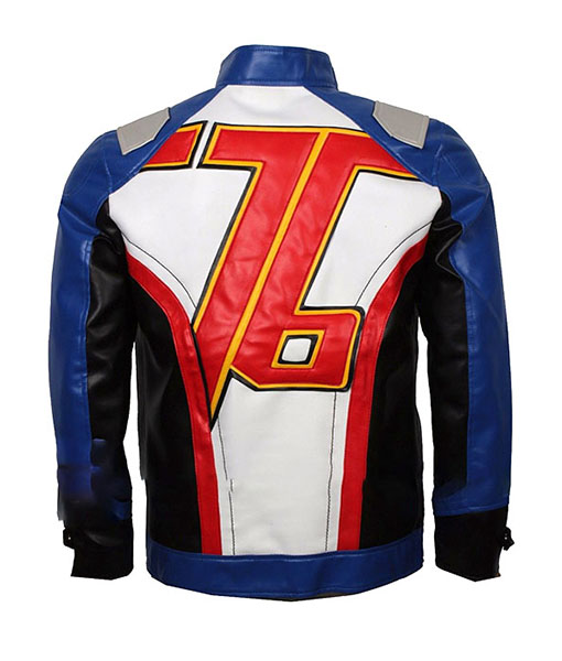 Soldier 76 Leather Jacket Back