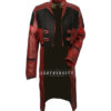 Womens Star Galaxy Vol 2 Gamora Genuine Leather Trench Coat front