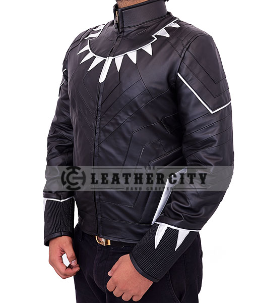 black panther jacket - left side